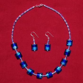 Elizabetta - Swarovski Crystal & Glass Bead Necklace & Earrings Set