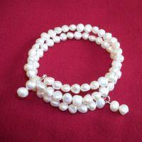 Allegra - Chunky Freshwater Pearl Wrap Bracelet