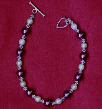 Antonia - Swarovski Crystal & Glass Pearl Bracelet