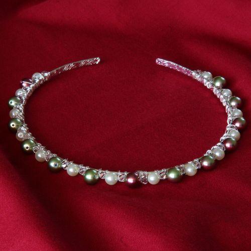 Catia - Swarovski Crystal & Glass Pearl Tiara