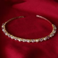 Cristina - Swarovski Crystal & Glass Pearl Tiara / Alice Band