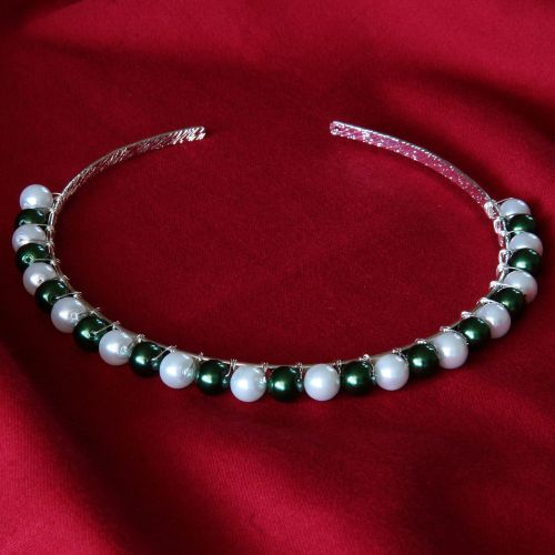 Valeria - Glass Pearl Tiara