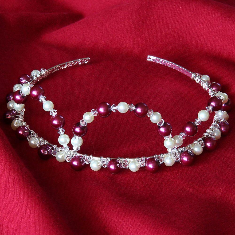 Antonia - Swarovski Crystal & Glass Pearl Tiara