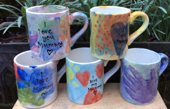 Brownie group mugs