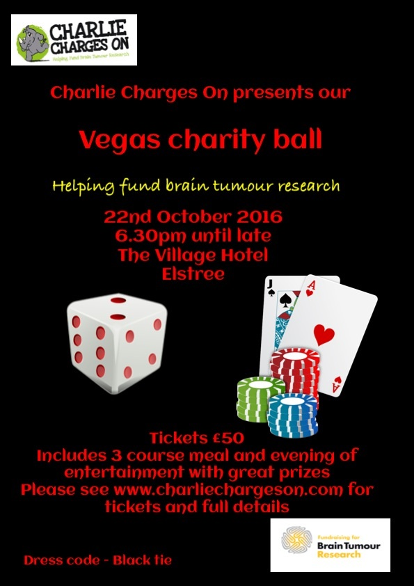 Deposit for charity ball