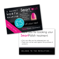 SmartPolish Promotion Cards £5 OFF x 50