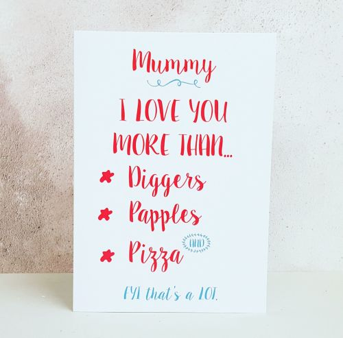 I Love You More Than Card For Mummy