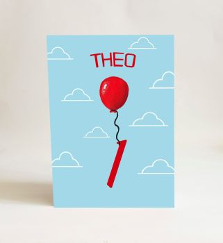 Red Balloon Card - Number 1