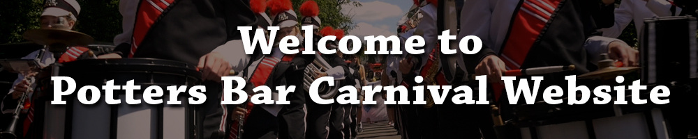 Welcome to the Potters Bar Carnival site!, site logo.