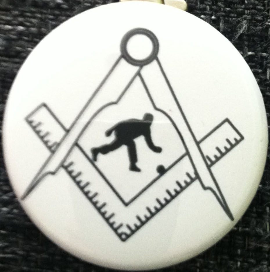 25mm pin badge Bowler