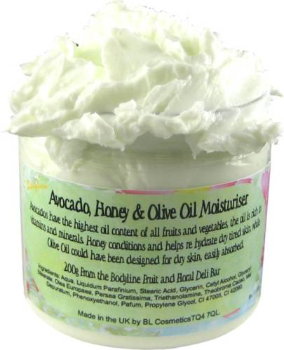 Avocado, Honey & Olive Oil Moisturiser 200g
