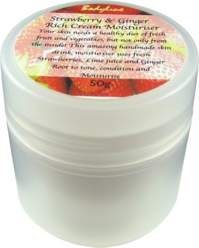Strawberry Ginger & Lime Moisturiser 50g: Suitable for all skin types.