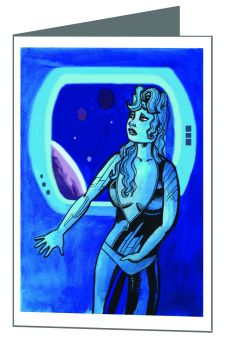 """Space Therapy"" Greeting Card"