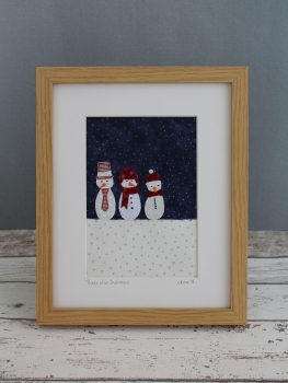 Three Wise Snowmen Appliqué Pattern