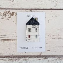 Cornish Cottage Brooch - Forever House