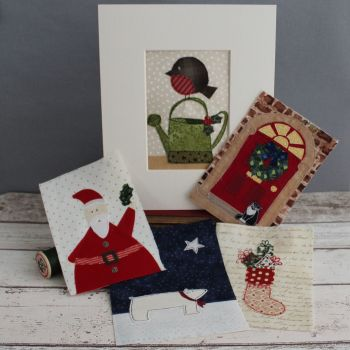 Christmas textile pictures