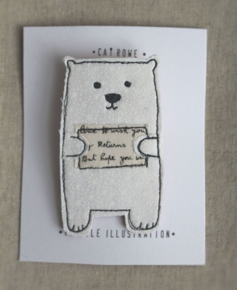 Polar Bear - snow flurry