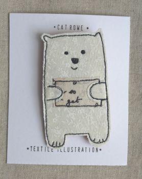 Polar Bear - snowy vine