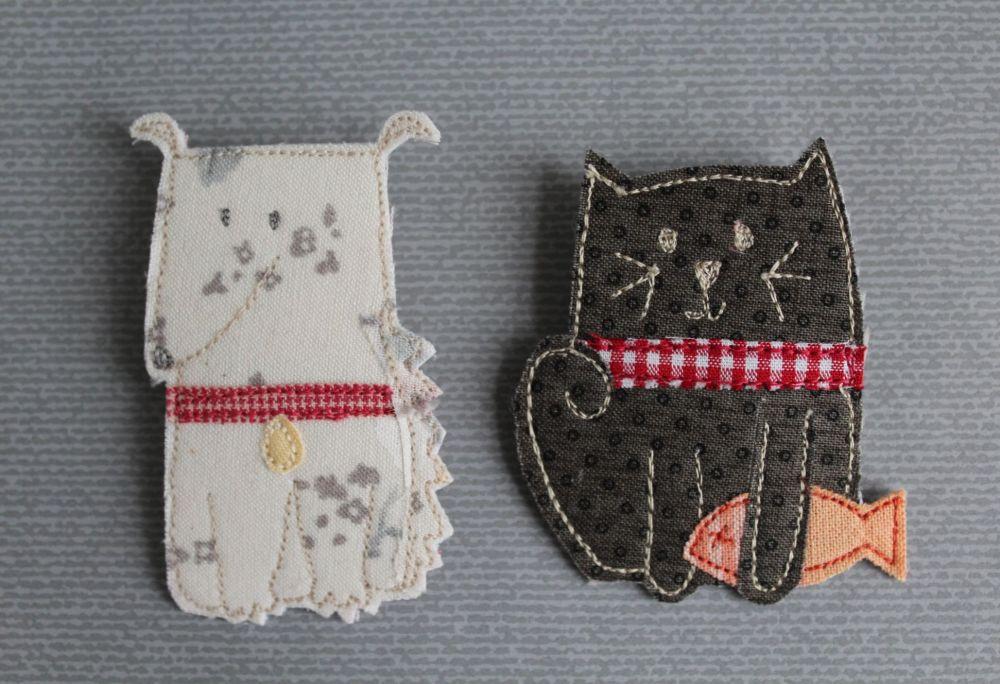 Cats & Dogs Brooch Pattern