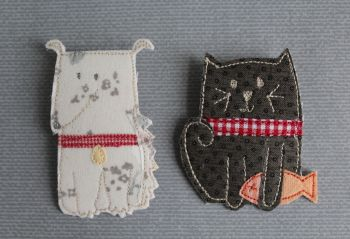 Brooch Pattern Cats & Dogs