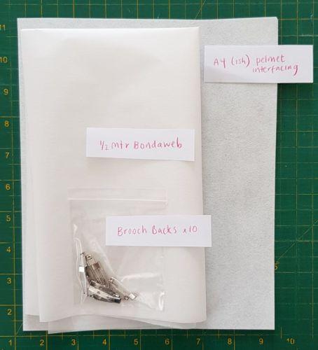 Basic kit for Summer Brooch Workshop