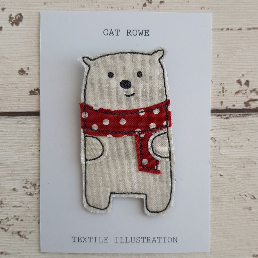 Polar Bear - big spotty scarf