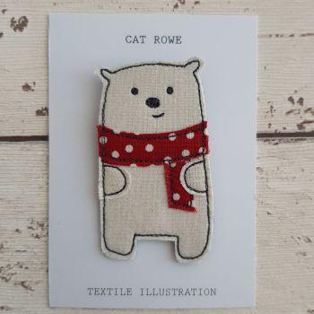 Polar Bear - big spotty scarf