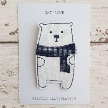 Polar Bear - white stars with blue scarf