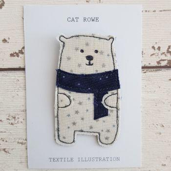 Polar Bear - silver sparkle