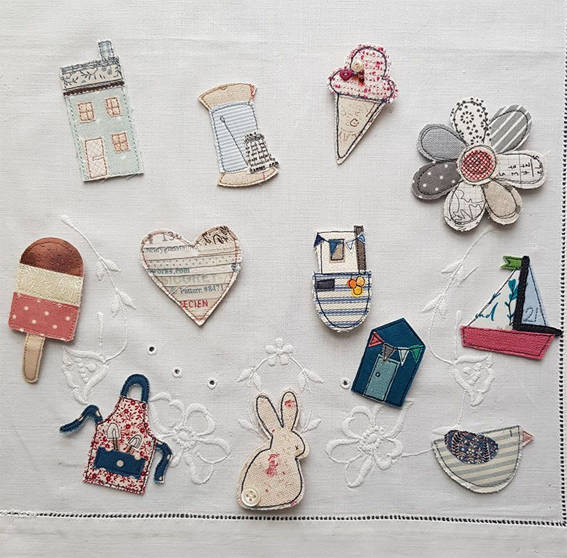 March Zoom Workshop - Cheerful Brooches
