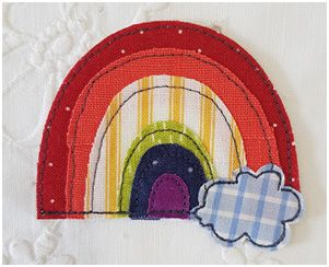 Rainbow Brooch Pattern