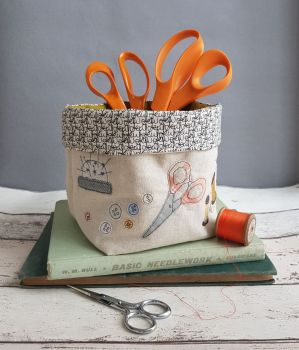 Gathered - An Applique Sewing Basket Pattern
