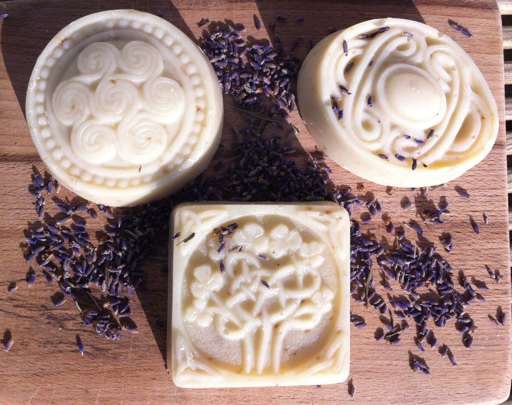 handmade natural soap celtic knots