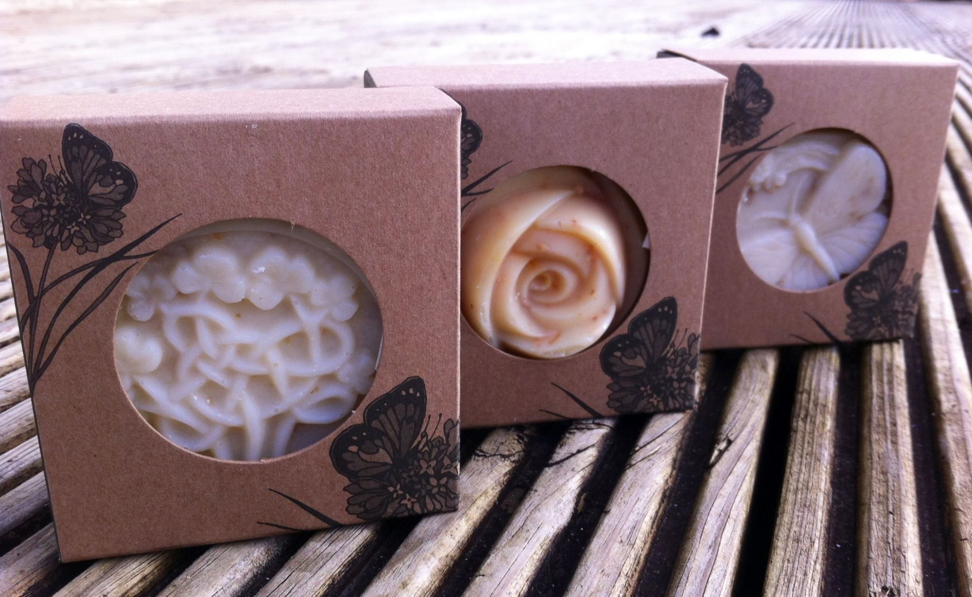 handmade celtic soap in gift box