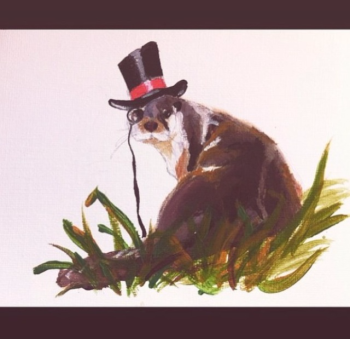 unique Irish made gifts, handpainted watercolour otter