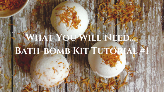 What you need to make your own bath bombs - Bath-bomb Kit Tutorial #1