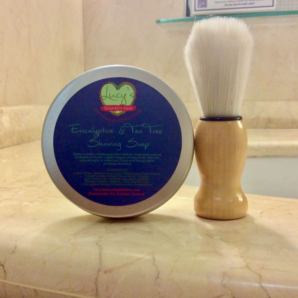 Natural shaving soap for dry, itchy skin, Lucys Soap Kitchen
