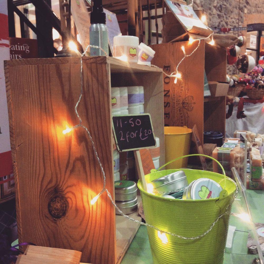Craft fair soap display, Westmeath, Ireland
