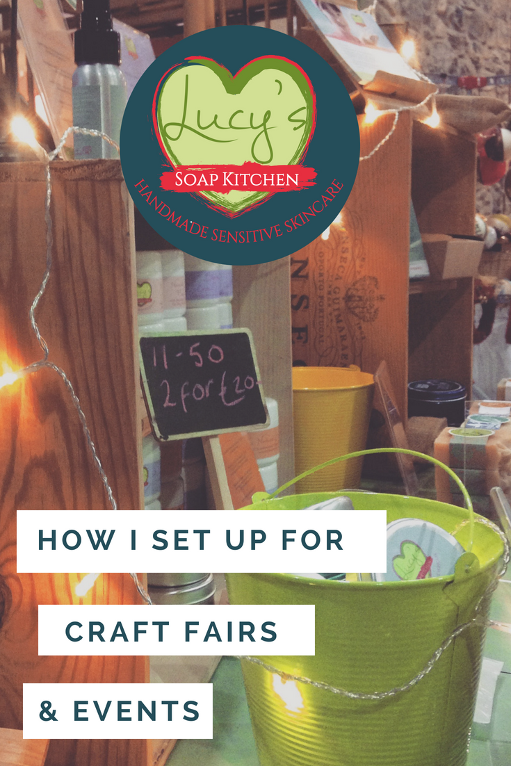 how to set up for a craft fair, Lucys Soap Kitchen, Ireland