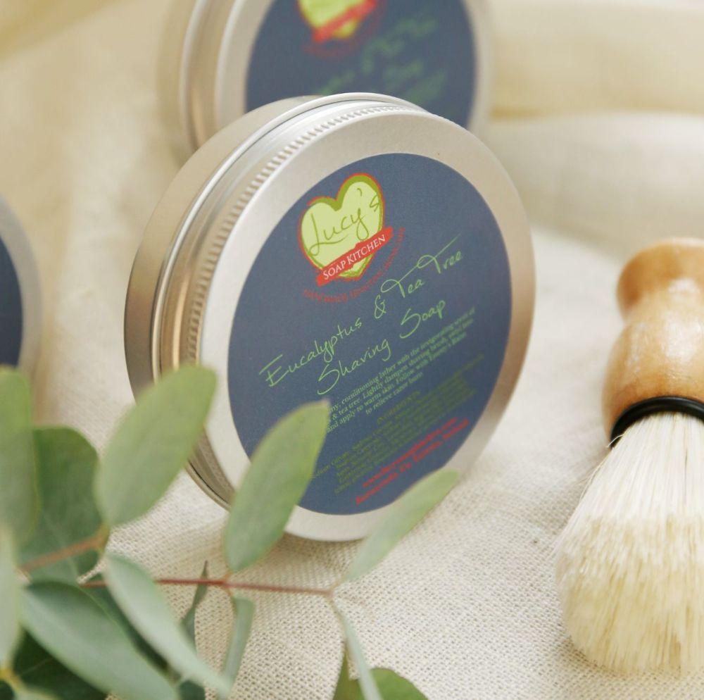 Handmade Shaving Soap & Brush Giftset