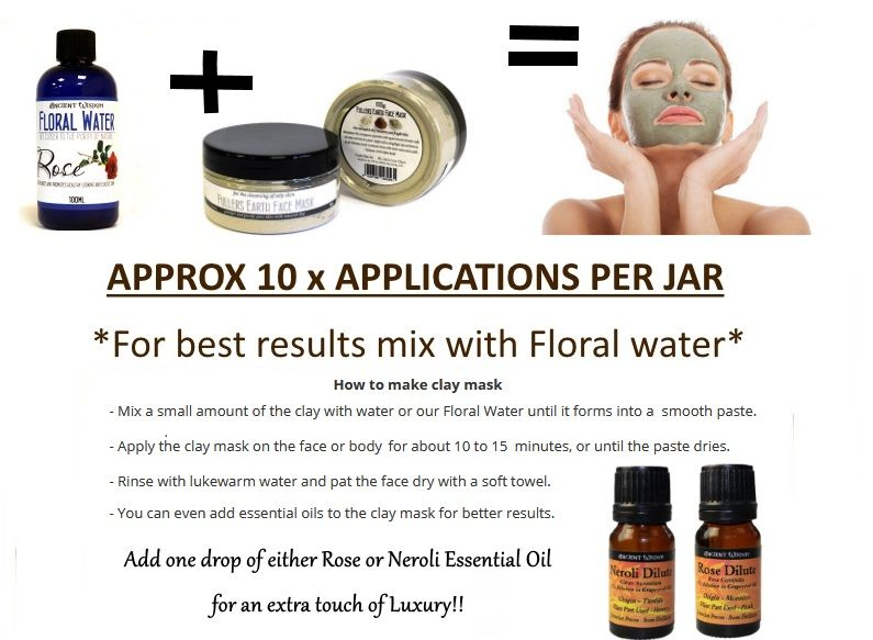 face mask clay floral water essential oil flyer