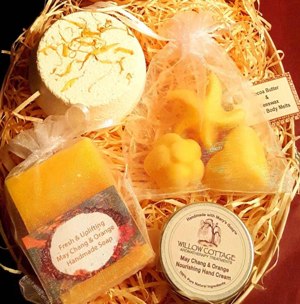 May Chang & Orange Uplifting Essential Oil Skin Treat Gift Box