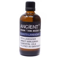 SLEEPY LAVENDER ~ 100ml Essential Oil Massage Blend