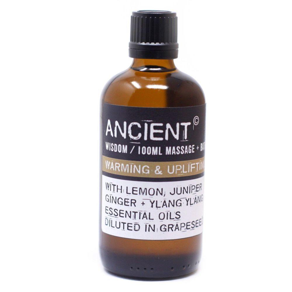 Warming and Uplifting Bath & Body Massage Oil