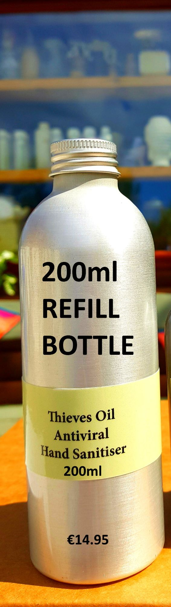 200ml REFILL BOTTLE ANTIVIRAL HAND SANITISER