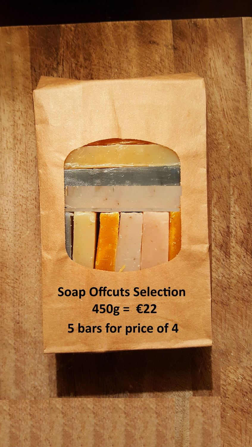 450g Selection of Essential Oil Soap Offcuts = equivalent average weight of
