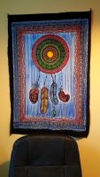 Handbrushed Cotton Wall Art - Dreamcatcher