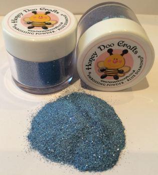 Honey Doo Crafts  20ml Jar Of Embossing Glitter - Blue Diamond