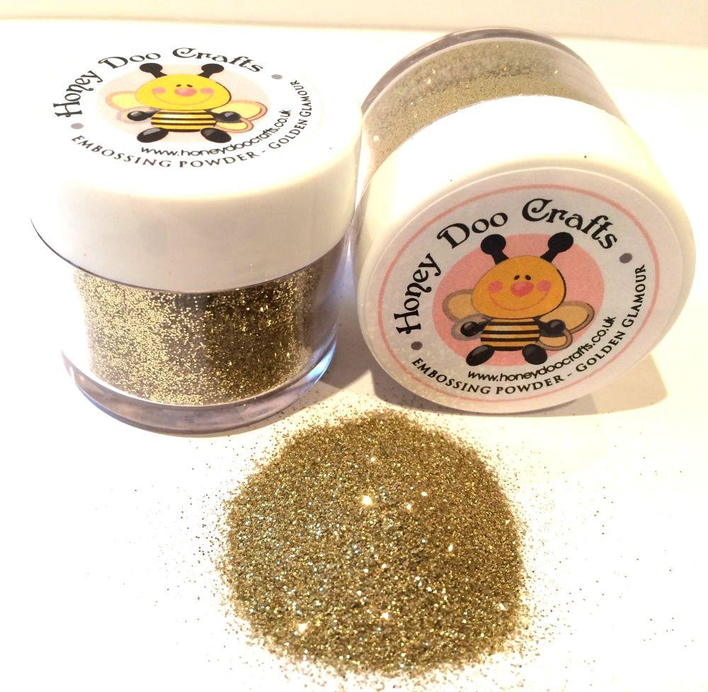 Honey Doo Crafts - Embossing Glitter - Golden Glamour