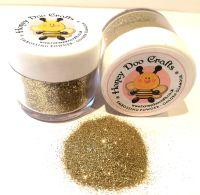 Honey Doo Crafts  20ml Jar Of Embossing Glitter - Golden Glamour